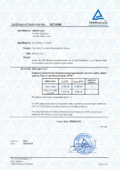 SIL Certificate for Top Entry Ball Valves