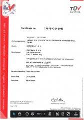 SIL Certificate for Trunnion Ball Valves