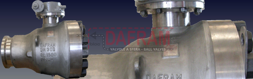 VALVOLE A SFERA TRUNNION