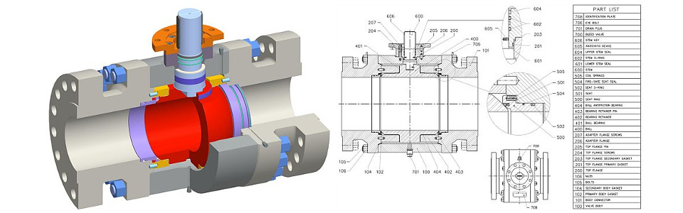 Trunnion Tipo P